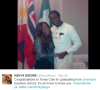 Kenya Moore congratulates Tonye Cole as he graduates from Harvard