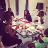 Pics: Tiwa Savage & Teebillz dine with Annie & 2face at their home